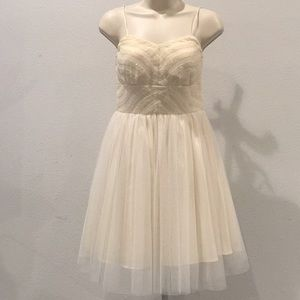NWT Neiman Marcus Party Dress with Sequins-Ivory